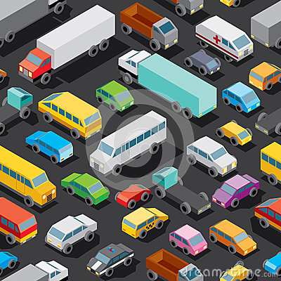 Free Seamless Car Parking. Vector Pattern Stock Photography - 59791322