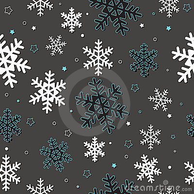 Seamless card with snowflakes