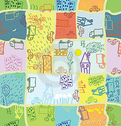 Seamless cartoon citizen pattern