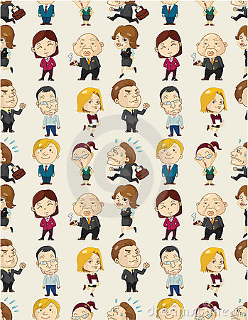 Free Seamless Cartoon Office Worker Pattern Royalty Free Stock Photography - 20428777