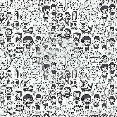 Free Seamless Cartoon Pattern Royalty Free Stock Image - 16494756