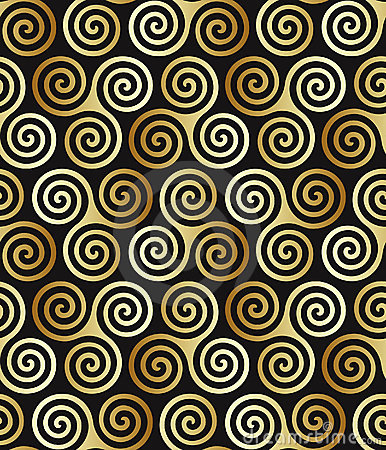Seamless celtic spiral pattern