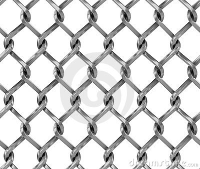 Chain Link Fence Drawing