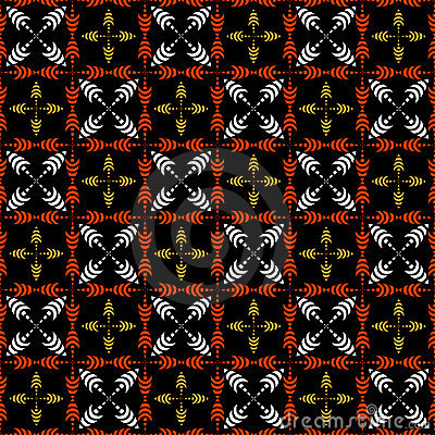 Seamless checked pattern with crosses.