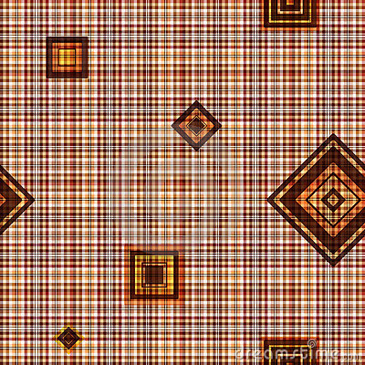 Seamless checkered brown pattern