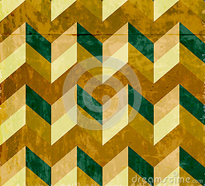 Seamless chevron pattern with old paper texture