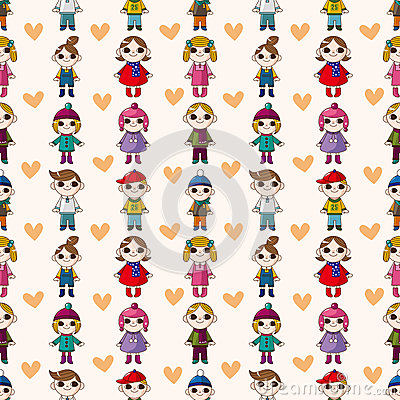 Seamless child pattern