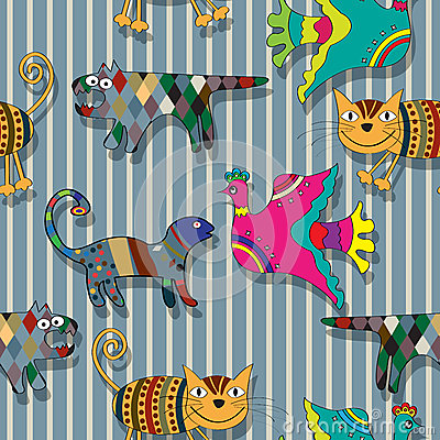 Seamless childlike drawing pattern