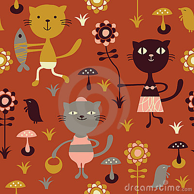 Seamless childlike pattern