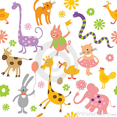 Free Seamless Childlike Pattern Royalty Free Stock Photo - 9097925
