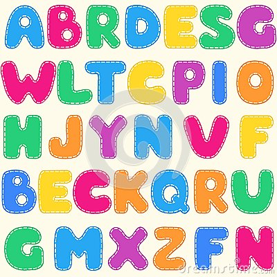 Seamless children s bright alphabet pattern