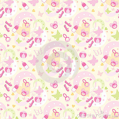 Seamless children s things pattern