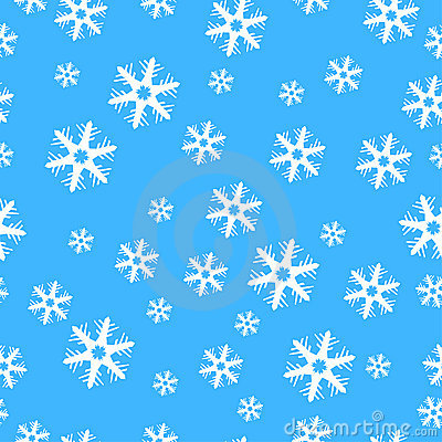 Seamless Christmas decoration snowflakes