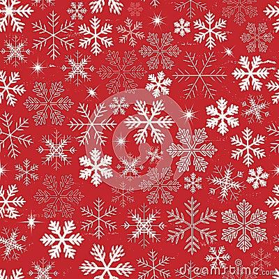 Free Seamless Christmas Snowflakes Background Royalty Free Stock Image - 34194576