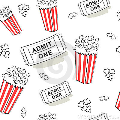 Seamless cinema pattern