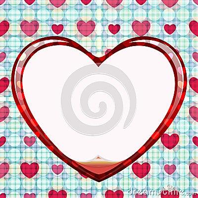 Seamless circle of love card