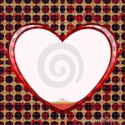 Seamless circle of love card