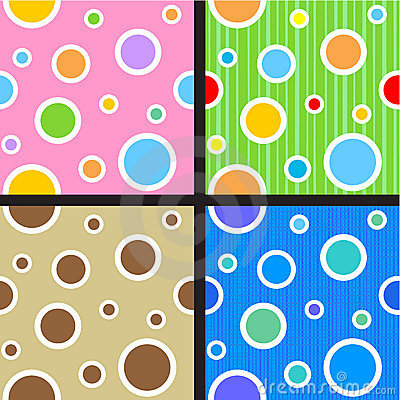Free Seamless Circles And Dots Patterns Stock Photos - 18222833