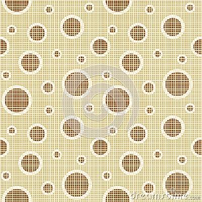 Seamless circles and dots pattern canvas