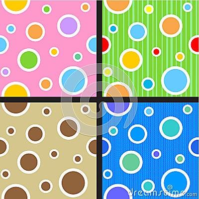 Seamless circles and dots patterns
