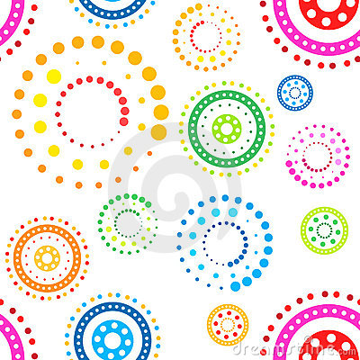 Free Seamless Circles Pattern Stock Image - 4964691