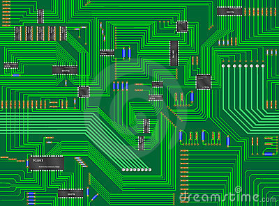 Seamless Circuit Board Background