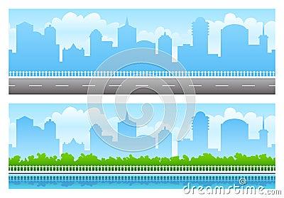Seamless city panoramas