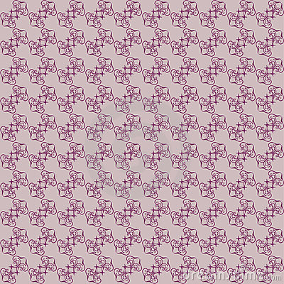 Seamless claret  color floral background