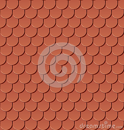 Seamless clay roof tiles