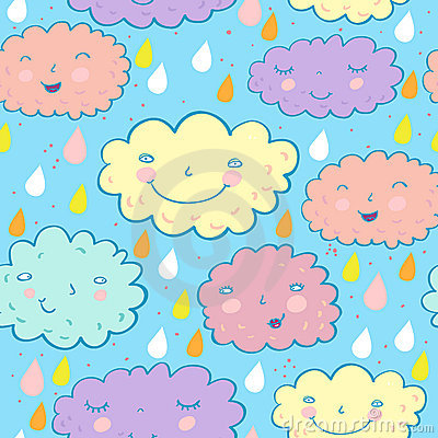 Seamless cloudy pattern