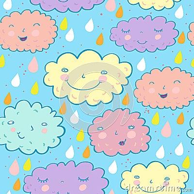 Seamless cloudy pattern