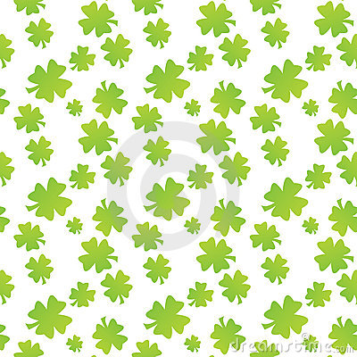 Seamless clover leaf pattern