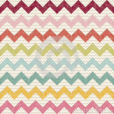 Free Seamless Color Chevron Pattern On Linen Texture Stock Photos - 27390123