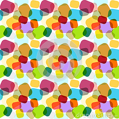 Seamless colorful abstract mosaic texture