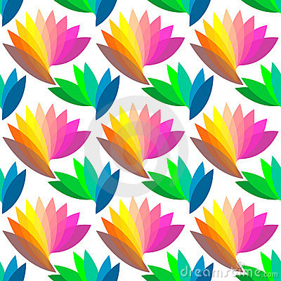 Seamless colorful floral pattern.