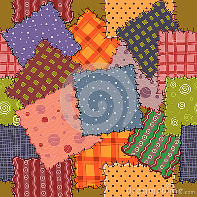 Seamless of colorful patchwork