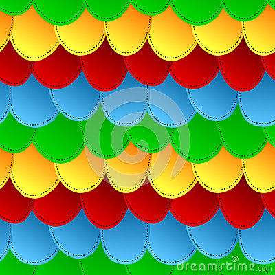 Seamless colorful scales pattern background