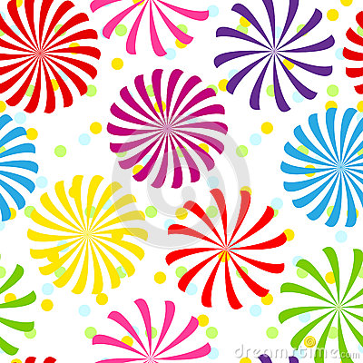 Seamless colorful spiral pattern