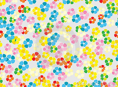 Seamless colorful tender floral background