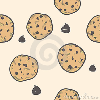 Seamless cookie background
