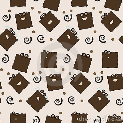 Seamless cookie character tile