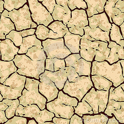 Seamless cracked ground background pattern