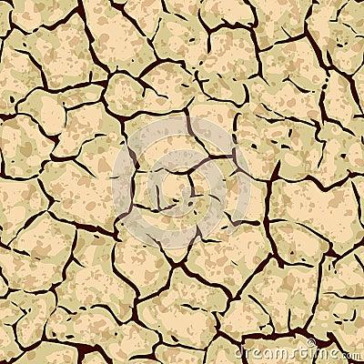 Seamless cracked ground background pattern
