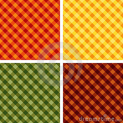 Seamless Cross-weave Gingham, 4 Harvest Hues