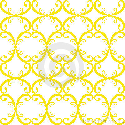 Seamless curled repeat pattern