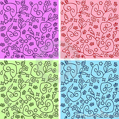 Seamless curly patterns