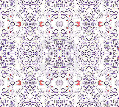 Seamless cute floral pattern wallpaper