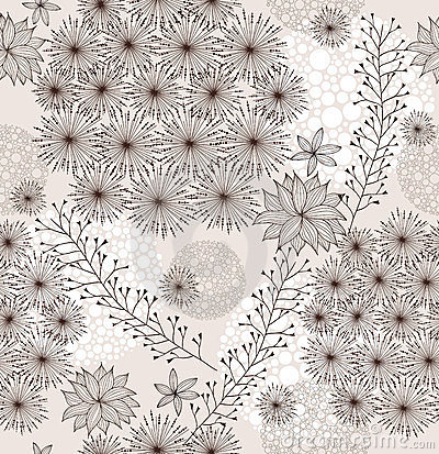 Seamless cute spring or summer flowers pattern