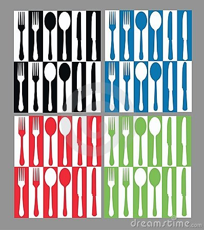 Seamless cutlery pattern