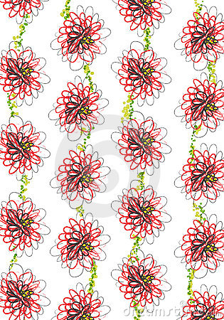 Seamless daisy floral pattern